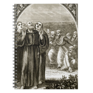 St. Columba chanting, and attacked by the Druids, Notebook