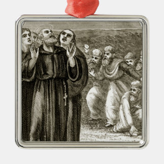 St. Columba chanting, and attacked by the Druids, Christmas Ornaments