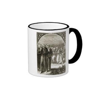 St. Columba chanting, and attacked by the Druids, Ringer Mug