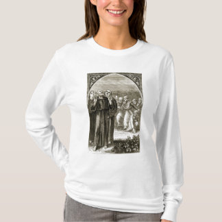 St. Columba chanting, and attacked by the Druids, T-Shirt
