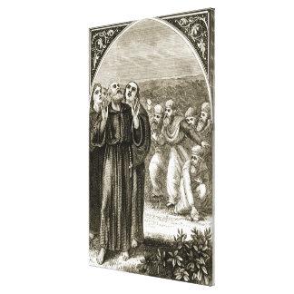 St. Columba que canta, y atacado por los druidas, Lienzo Envuelto Para Galerias