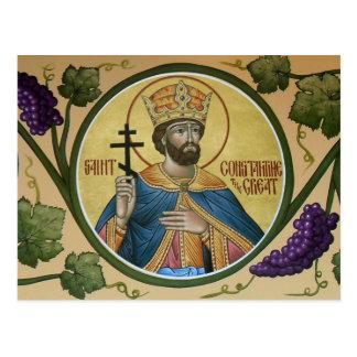 St. Constantina la gran tarjeta del rezo Postales