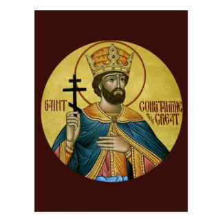 St. Constantina la gran tarjeta del rezo Tarjeta Postal