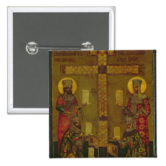St. Constantina y St. Helena Pin Cuadrada 5 Cm