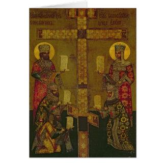 St. Constantina y St. Helena Tarjeta De Felicitación