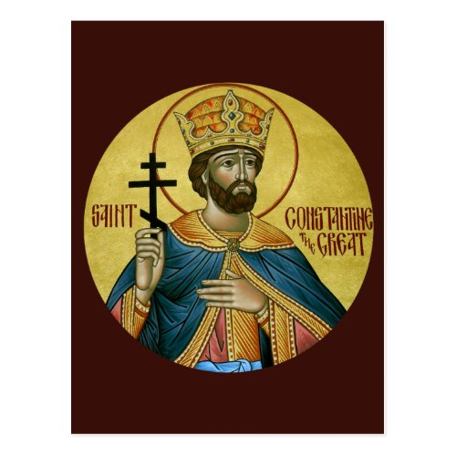 St Constantine the Great Prayer Card