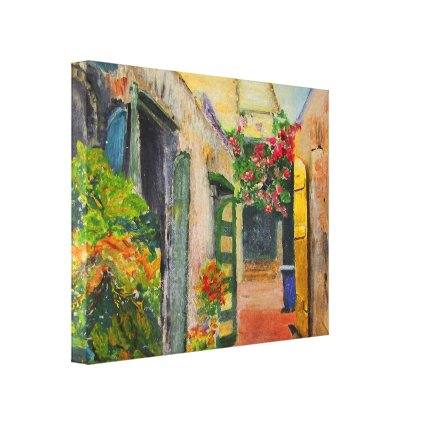 St. Croix Alley Canvas Print