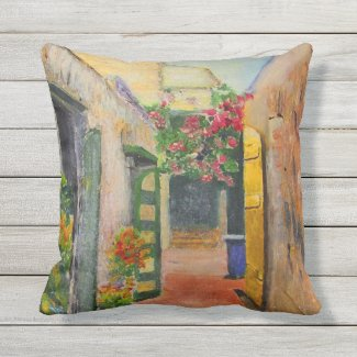 St. Croix Alley Outdoor Pillow