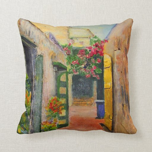 St. Croix Alley Throw Pillow