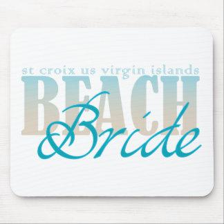 St Croix Beach Bride Mouse Pad