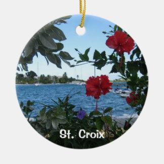 St. Croix Adorno Redondo De Cerámica