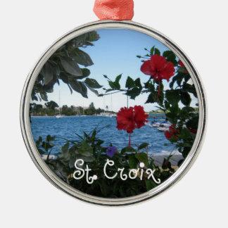 St. Croix Adorno Redondo Plateado