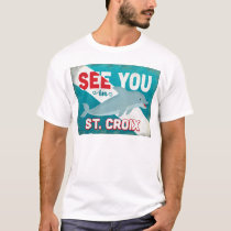 St Croix Dolphin - Retro Vintage Travel