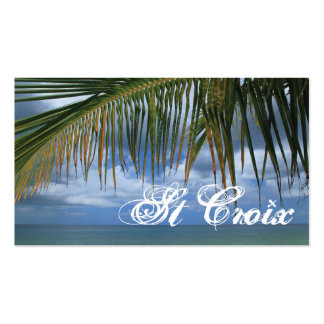 St Croix Gift Tag Business Cards