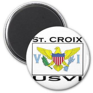 St. Croix, Islas Vírgenes de los E.E.U.U. Imán Redondo 5 Cm