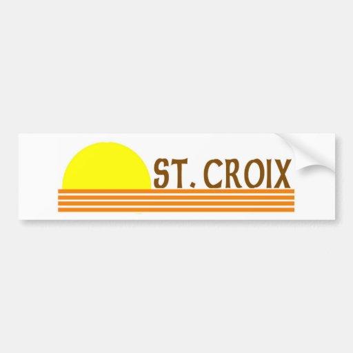 St. Croix, Islas Vírgenes de los E.E.U.U. Pegatina Para Auto