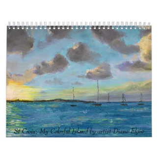 St Croix: Mi isla colorida por arte… Calendario De Pared