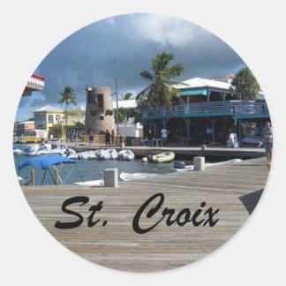 St. Croix Pegatina Redonda