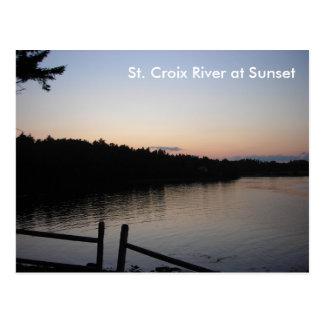 St. Croix River at Sunset Postcard