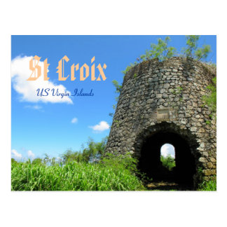 St Croix Sugar Mill Postcard
