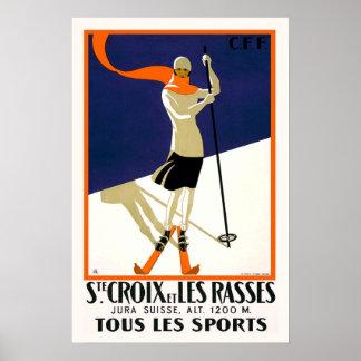 St. Croix Switzerland Skiing Poster