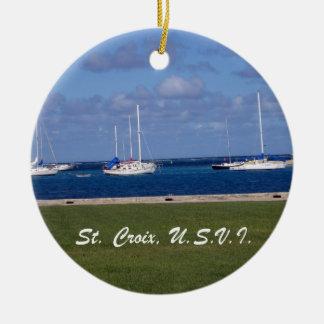 St. Croix, U.S.V.I. Adorno Redondo De Cerámica