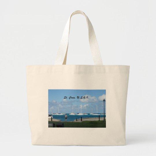 St. Croix, U.S.V.I. Large Tote Bag