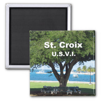 St. Croix  U.S.V.I. 2 Inch Square Magnet