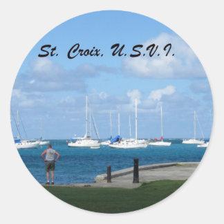 St. Croix, U.S.V.I. Pegatina Redonda