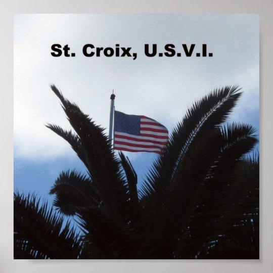 St. Croix, U.S.V.I. Poster
