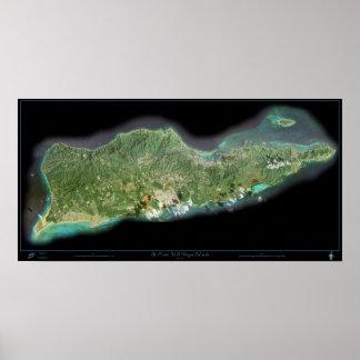 St. Croix U.S. Virgin Islands satellite poster
