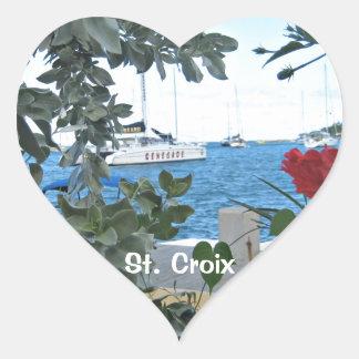 St. Croix USVI Heart Sticker