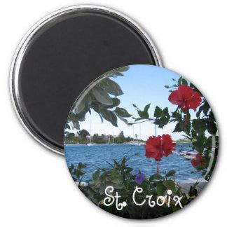 St. Croix, V.I. Imán Redondo 5 Cm