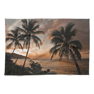 St. Croix VI Sunset Towel