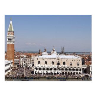 St. Cuadrado de las marcas, Venecia Italia Tarjetas Postales
