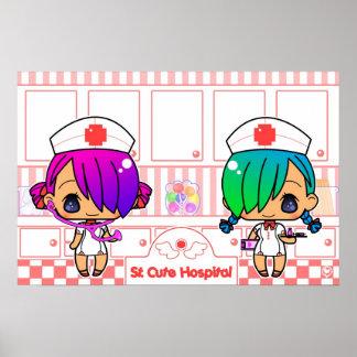 St. Cute Hospital Print