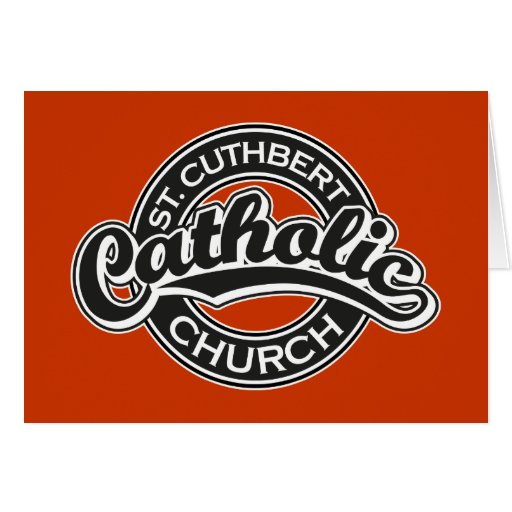 St. Cuthbert Catholic Church Black and White Cards