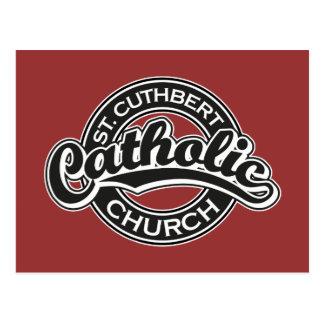 St. Cuthbert Catholic Church Black and White Postcard