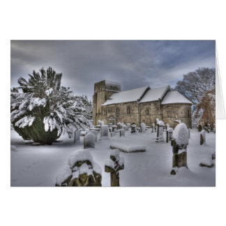 St Cuthbert en la nieve Tarjeta De Felicitación