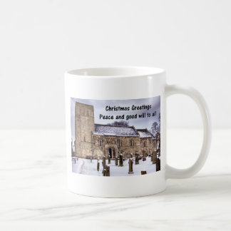 St Cuthbert's Church at Dalmeny Classic White Coffee Mug