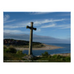 St. Cuthbert's Cross, Alnmouth Northumberland Poster