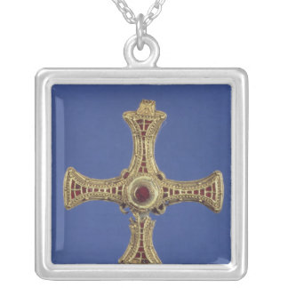 St. Cuthbert's Cross Silver Plated Necklace