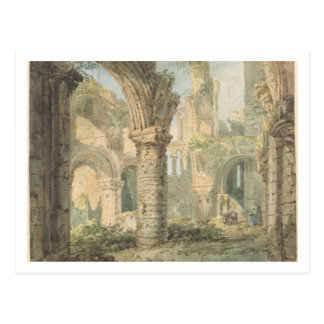 St. Cuthbert's Holy Island, 1797 (w/c over pencil Postcard