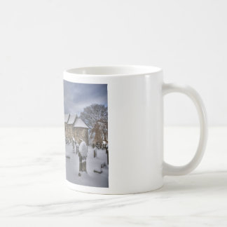 St Cuthbert's in the snow Classic White Coffee Mug