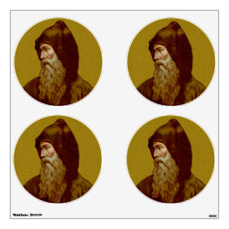 St. Cyril the Monk (M 002) 4-UP Circles Wall Sticker