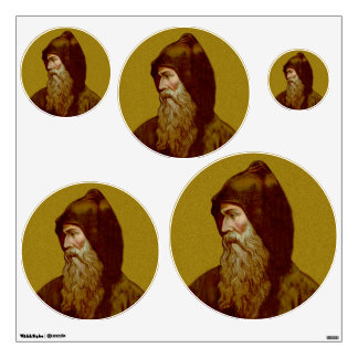 St. Cyril the Monk (M 002) 5-Up Variable Circ Wall Sticker