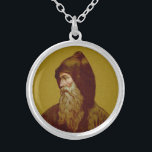 """St. Cyril the Monk (M 002) Silver Plated Necklace<br><div class=""""desc"""">Image Credit (M 002):  The image of St. Cyril is an adaptation of an early 20th century chromolithographic devotional print of SS. Cyril and Methodius in the Art Nouveau style from the designer's private collection of religious ephemera.        Feast: February 14</div>"""