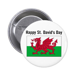 St. David's Day 2 Button