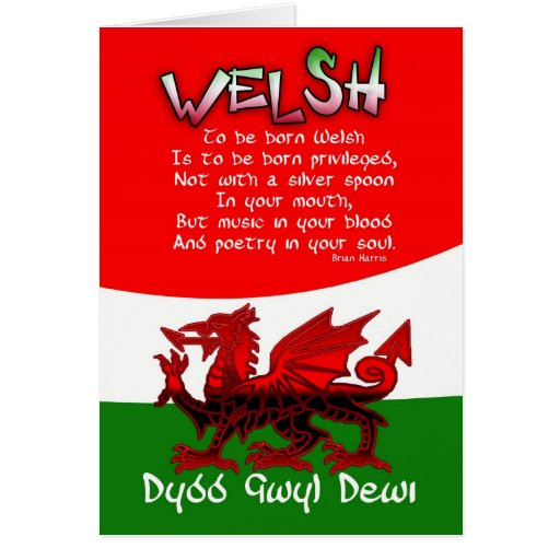 St. David's Day Card with poetry by Bryan Harris