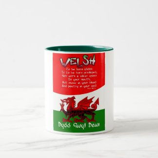 St. David's Day Card with poetry by Bryan Harris Two-Tone Coffee Mug